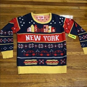 TIPSY ELVES LIMITED EDITION NEW YORK Xmas SWEATER
